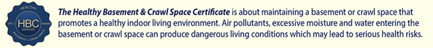 Healthy Basement & Crawl Space Certificate